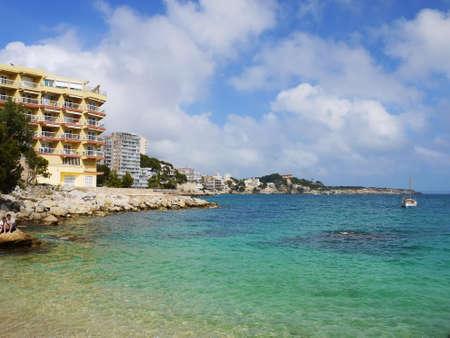 gat: Beach bay azure , Cala Gat, Majorca island, Spain