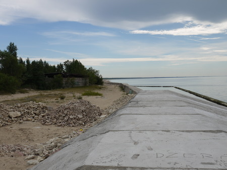 morose: Emty industrial beach near Soviet military base