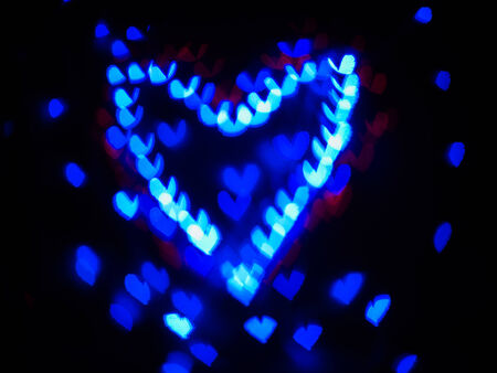 Heart bokeh background, Love Valentines day background photo