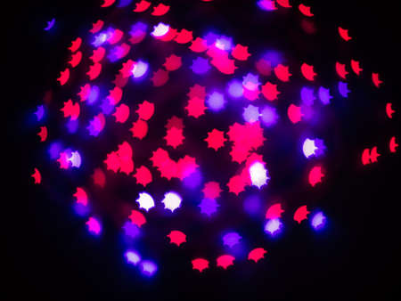 Abstract Colored blue and red bokeh background photo