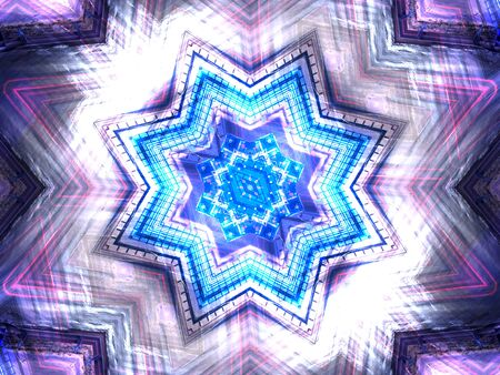 Ethnic pattern. Abstract kaleidoscope fabric design texture photo