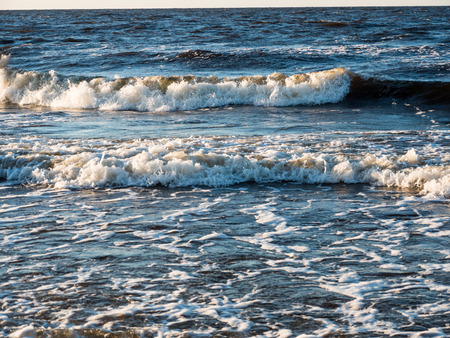 baltic: Beautiful View of seascape, Baltic sea waves