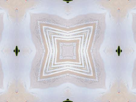 forme: Blanc motif ethnique. Conception abstraite de tissu de kaléidoscope.