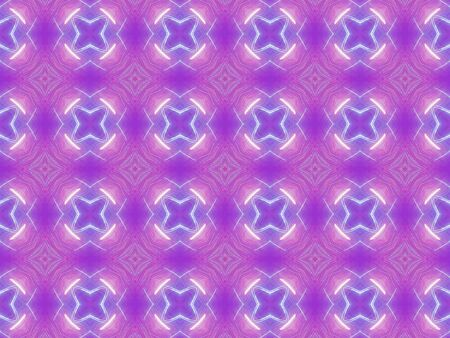 purple stars: Purple Ethnic pattern. Abstract kaleidoscope fabric design.