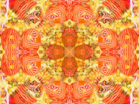 couleur orange: orange color drawing in kaleidoscope pattern - orange color drawing in kaleidoscope pattern for background