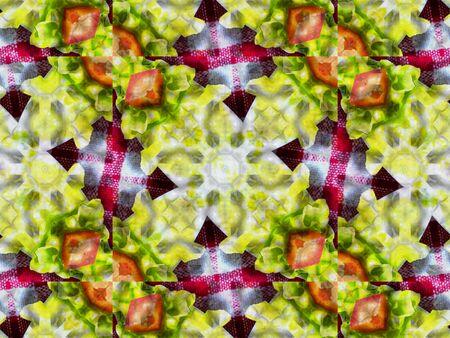 kaleidoscope: Green abstract kaleidoscope background texture, star design