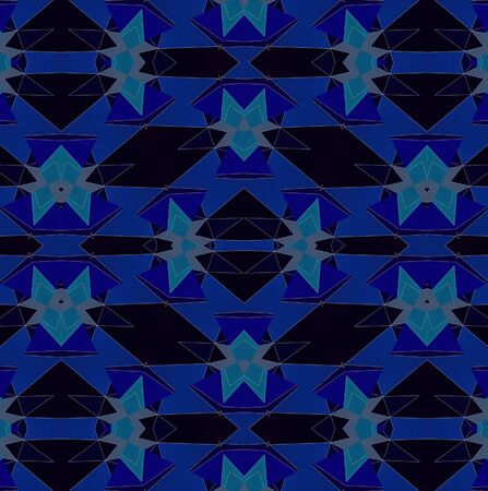 Light blue kaleidoscope background pattern Stock Photo