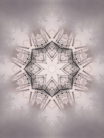 macro: Pattern of macro kaleidoscope abstract background patern Stock Photo