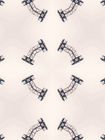 black star: Pattern of macro kaleidoscope abstract background patern Stock Photo