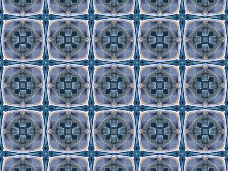 macro: Pattern of macro kaleidoscope abstract background patern Stock Photo