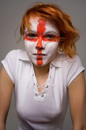 english football makeup girl photo