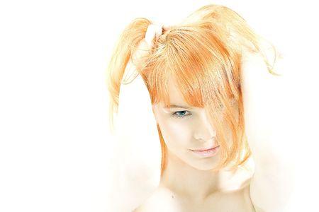 Hi-key redhead portrait Stock Photo