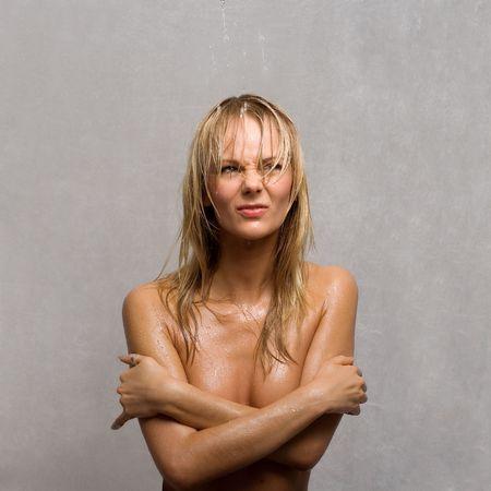 wet topless girl Stock Photo - 401583