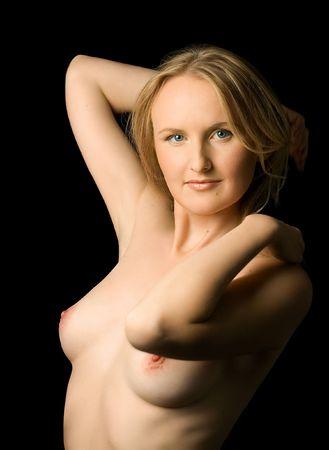 pretty girl topless  Archivio Fotografico - 428965