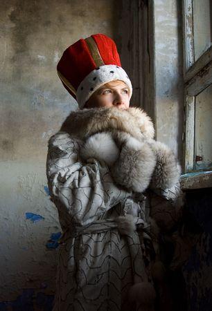 cold winter portrait photo