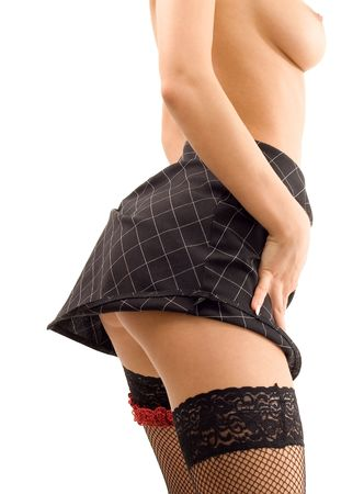 tempting up-skirt picture Stock Photo - 444013