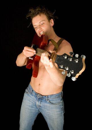 punk playing guitar Stock Photo - 462983
