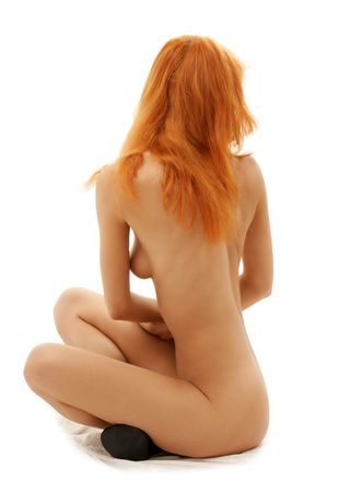 classical pin-up image of naked redhead girl Stock Photo - 476341
