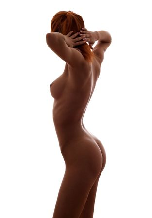 classical silhouette female nudity image Stock Photo