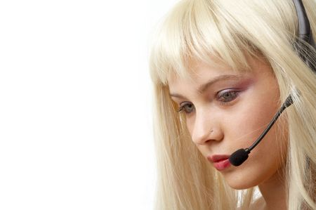 blonde helpline girl photo
