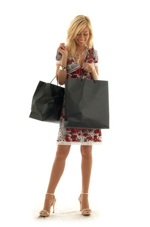 lovely beauty with shopping bags Stock Photo - 501573