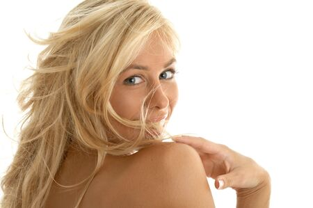closeup portrait of happy blond Stock Photo - 511036