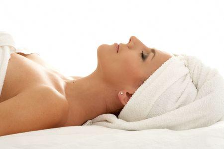 beautiful lady in spa salon Stock Photo - 521778