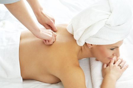 lovely lady in massage salon Stock Photo - 540103