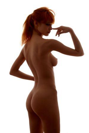 Weibliches Nacktheitbild des klassischen Schattenbildes