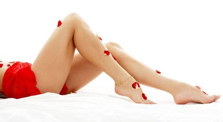 long legs of lady relaxing in spa Stock Photo - 663730
