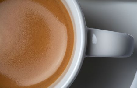 bar ware: close-up shot of american espresso coffee cup