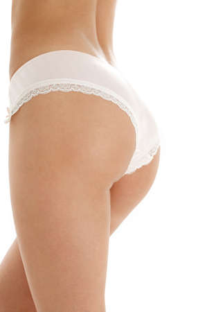 classical image of voluptuous female curves over white