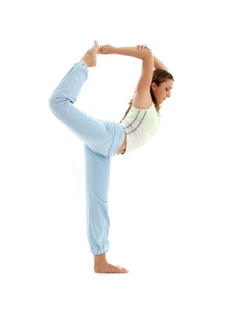 sporty girl practicing natarajasana lord of the dance pose Stock Photo - 1092842