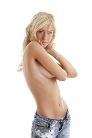 seins nus: image de beau fond blond de blanc dexc�dent