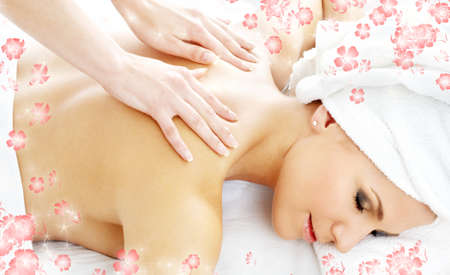 picture of lovely lady relaxing in massage salon Stock Photo - 1533724