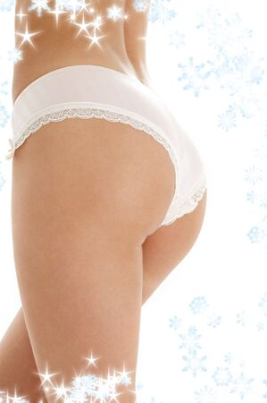 classical image of voluptuous female curves with snowflakes Stock Photo - 2274518