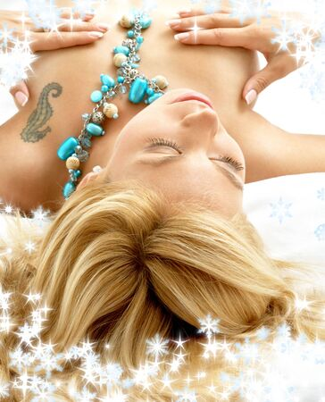 portrait of dreaming blond laying in bed Stock Photo - 2282256