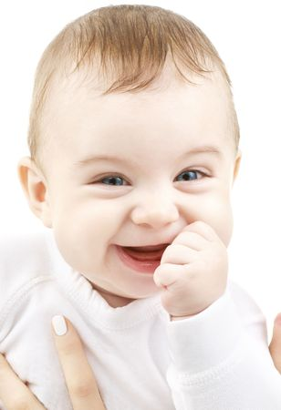 bright closeup portrait of adorable baby Stock Photo - 2348344