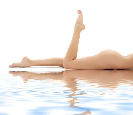 picture of long legs of relaxed lady in water Stock Photo - 2565329