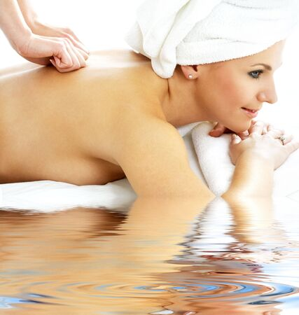 picture of lovely lady relaxing in massage salon Stock Photo - 3083958