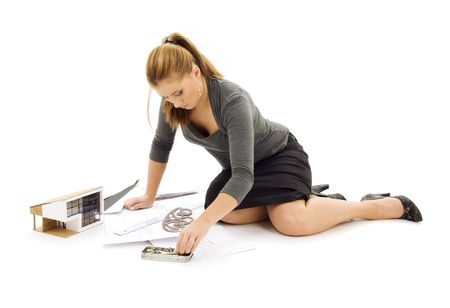 picture of lovely architect girl at work Stock Photo - 3307712