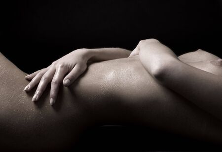 classical closeup picture of laying  woman Stock Photo - 3348629