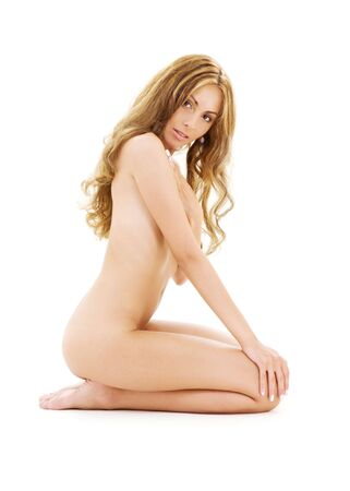 bright picture of healthy naked woman over white Stock Photo - 3465189