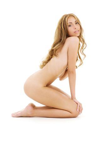 corps femme nue: photo femme nue de la sant� sur blanc