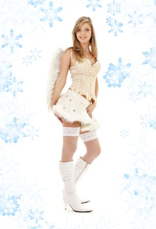 picture of lovely angel girl in furry skirt and corset Stock Photo - 3540570