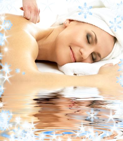 picture of lovely lady relaxing in massage salon Stock Photo - 3641728