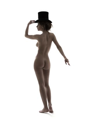 picture of naked cabaret dancer in top hat Stock Photo - 3830086