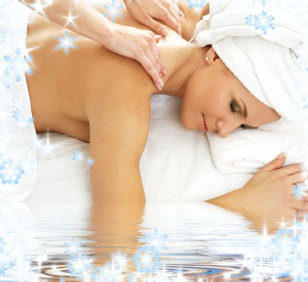 picture of lovely lady relaxing in massage salon Stock Photo - 3886706