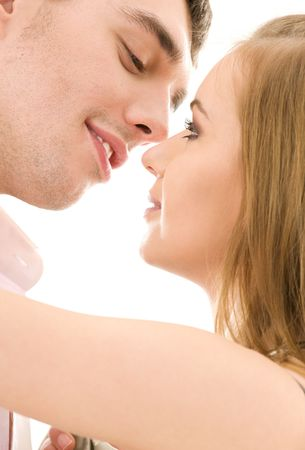 picture of couple in love over white Stock Photo - 4006841