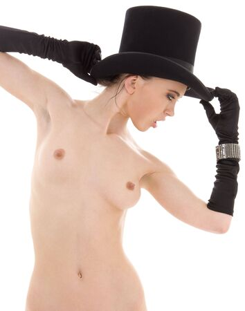 picture of naked dancer in top hat Stock Photo - 4033013